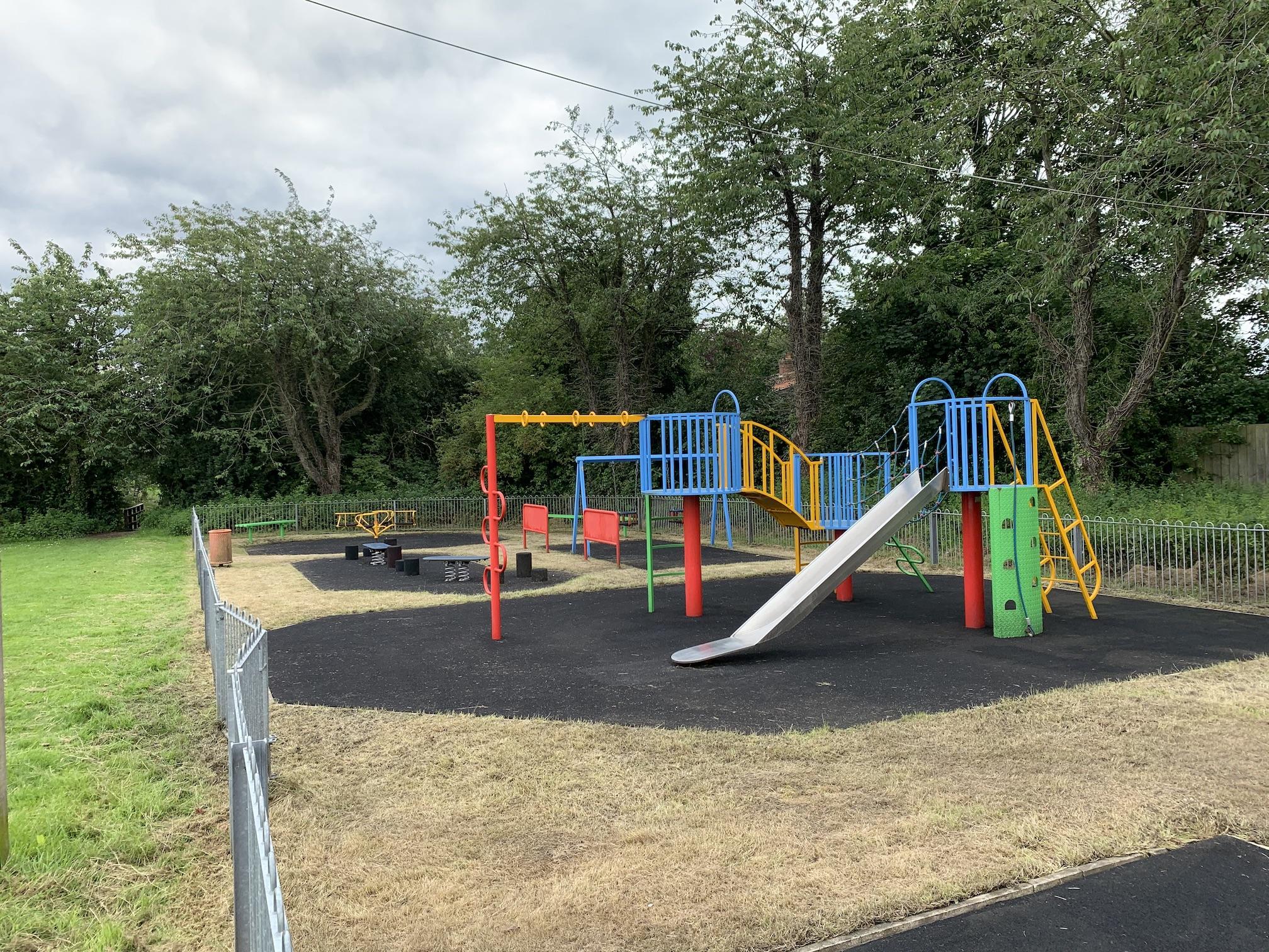 Playground climbing frame